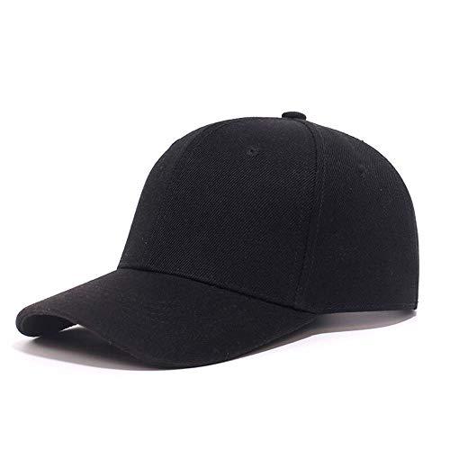 Hombres y Mujeres Sombrero para el Sol Gorra de Trabajo de béisbol Sombrero Masculino Sombrero Femenino Equipo de Gorra de Publicidad Sombrero (Color : Negro, tamaño : 56-60CM)