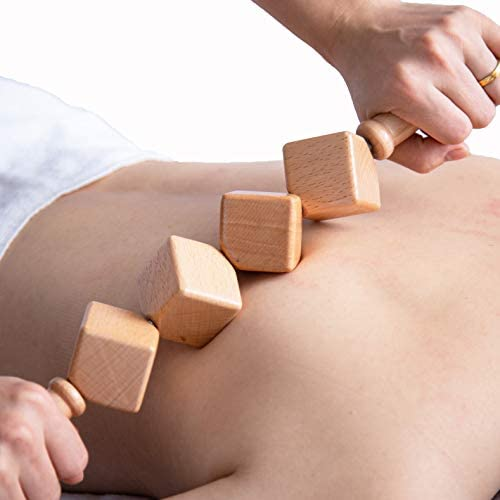 Mikako Wooden Therapy Massage Roller Dice Roller Tool Massager Maderotherapy Lymphatic Drainage product image