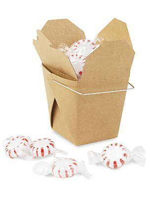 Oasis Supply 100-Count Chinese Take Out Boxes for Party Favor and Food Pail, 26-Ounce, Kraft
