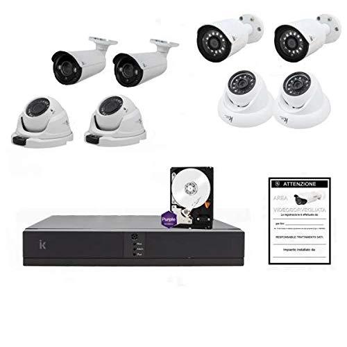 Setik - Kit Videosorveglianza 8 Canali IP 1080P 8 Cam + HD - Serie Home - KIT-ST-HO-IP-08-10-2