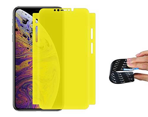 Newnesstop [Nano-Tech Pellicola Protettiva per iPhone X-XS 5D, Anti graffio, Senza Bolle, Alta Definizione, Facile da Pulire,Il Materiale e Flessibile Nuova Tecnologia Copri Bordi