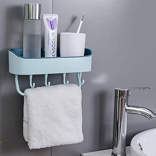 Toiletophanghaak, wandmontage, vrijstaande boor, toilet, wastafel, handdoek, hangend Lichtblauw