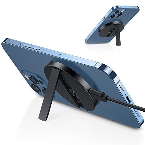 ESR HaloLock Caricatore Wireless con Cavalletto Compatibile con iPhone 13/13 Pro/13 mini/13 PRO Max/12/12 mini/12 Pro/12 PRO Max/MagSafe,con Cavo Rimovibile da 1,5 m(Adattatore Non Incluso),Nero