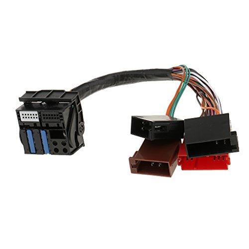 Adaptador de Arnés de Cableado para FM Radio de Coche Cable ISO para Audi A2 A3 A4 A5 A6 A8 Q5 TT