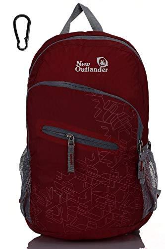Outlander 20L/33L- Most Durable Packable Lightweight Travel Hiking Backpack Daypack (Dark Red, 20L)