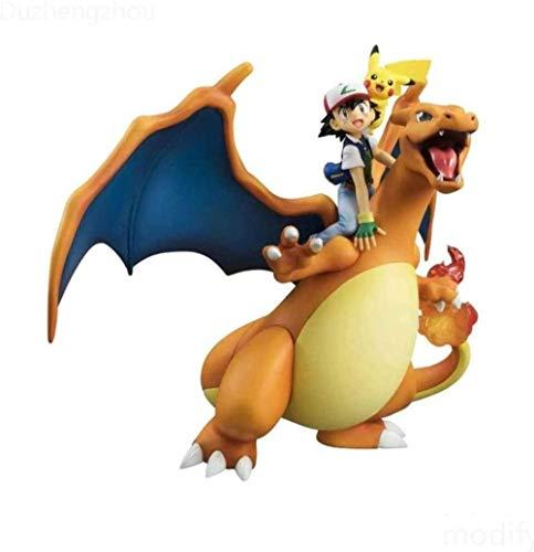 QingShunBeiJing Pokemon: Charizard Ash Ketchum e Pikachu Anime Giocattoli Modello Regalo Decorazioni per Compleanno e Ufficio per Bambini - 6 Figure in PVC da 3 Pollici