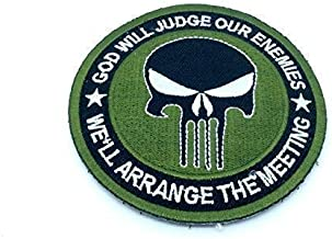 Green Punisher God Will Judge Our Enemies Morale Patch Punisher Parche Bordado Thermoadhesivo Titan One Europe