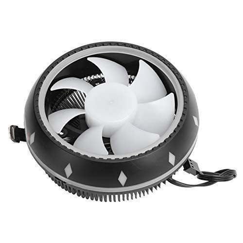 Enfriador de CPU RGB, Ventiladores de enfriamiento de computadora, Enfriador de aire de CPU, Enfriador de CPU Ventilador de enfriamiento del host de escritorio Disipador de calor Suministros
