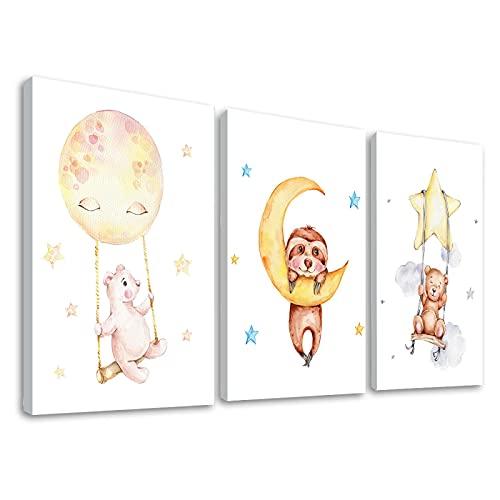 Schattige Baby Dierlijke Foto's Prints voor Kwekerij Muur Decor Meisjes Slaapkamer Speelkamer Decoraties Ballon Dier…
