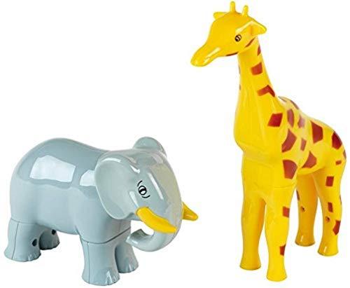 Klein - 0076 - Puzzle 3D - Boîte de 2 animaux magnétiques Funny Puzzle, éléphant et girafe