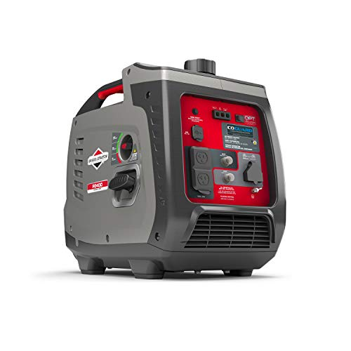 Briggs & Stratton P2400 PowerSmart Series Inverter Generator with Quiet Power Technology and CO...
