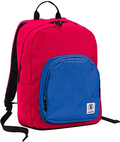ZAINO INVICTA - OLLIE PACK - Rosso Blue - tasca porta pc padded - scuola e tempo libero americano 25 LT