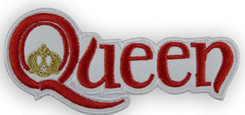 MAREL Red Queen Freddy Mercury parche termoadhesivo bordado cm 9 x 4 Replica