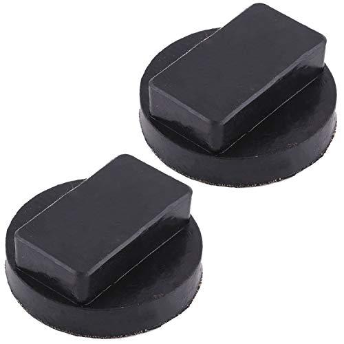 (エスネット) タイヤ ジャッキ スタンド ジョイント ゴム 車 リフト アップ パッド 2個 直径60mm 高さ25mm 汎用 SN-252-LJ (黒)