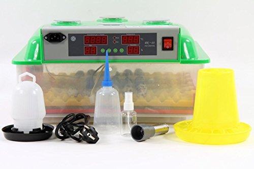 Qubeat Incubateur BKPro-Q + Abreuvoir et mangeoire Automatique, 132 Oeufs de caille, la Machine à couver éleveur