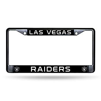 Rico Industries NFL Las Vegas Raiders Standard Chrome License Plate Frame 6 x 12.25-inches