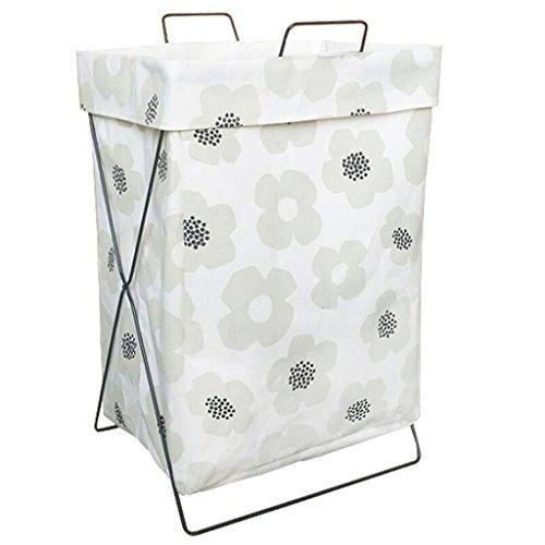 Xuan - Worth Another Blanc Floral Motif Maison Tissu Pliant Sale Vêtements Panier Salle de Bains Imperméable À Linge Paniers Rangement Jouet Panier