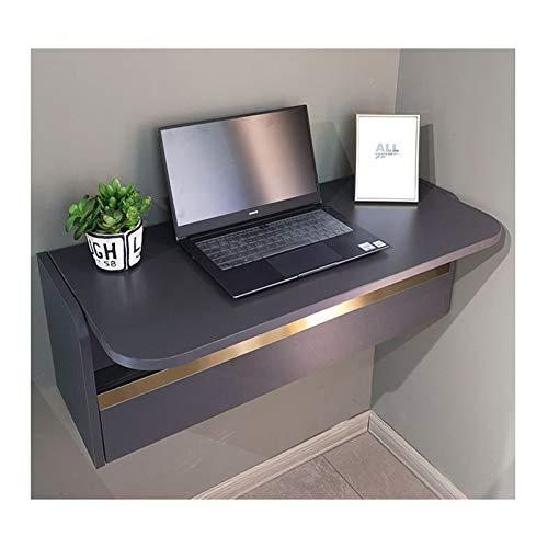 SYJH Escritorio Plegable Pared para Espacios Pequeños Mesa de Pared de Escritorio Plegable con Compartimentos de Almacenamiento y Cajones Escritorio de Computadora o Tocador(Size:836×390×296mm)