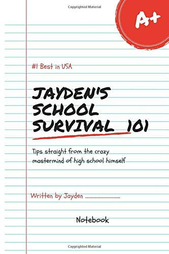 Jayden's School Survival Lol Best in USA Notebook Journal 120 Lined pages 6x9 (Notebook name, Band 1)