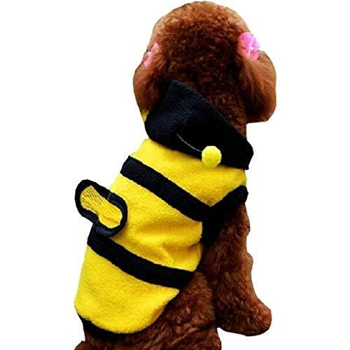 Legisdream Vestir para Perros Abeja Buena Idea para Vestir Animales Amigos Tamaño M