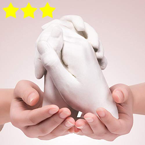 Keepsakes Hand 3D DIY Moulding Casting Kit | Christmas Decoration |Couples Family Casting | Gift for Weddings, Anniversaries, Valentines | 100% Produced and Packed in UK (White-a)