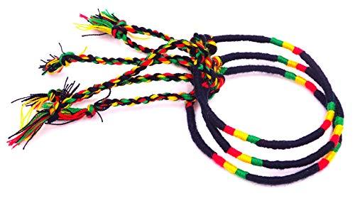 Lote de 3 pulseras brasileñas rasta reggae amistad macramé algodón Friendship amuleto de la suerte Bob Marley Jamaica