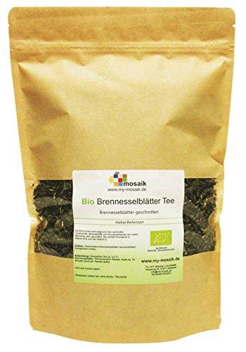 my-mosaik Bio Brennesselblättertee - 100% naturbelassen, geschnitten, ohne Zuckerzusatz, aus kontrolliert biologischem Anbau, im wiederverschließbaren Frischebeutel, abgefüllt in Deutschland (200g)