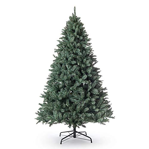 KING OF CHRISTMAS 7 Foot Tribeca Blue Spruce Artificial Christmas Tree Unlit
