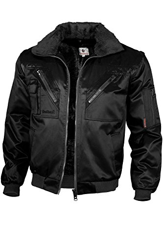 Qualitex - Pilotenjacke 4 in 1, Schwarz , M