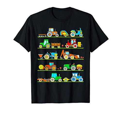 Trattore T Shirt Donna Uomo Bambino Regalo Veicoli Agricoli Maglietta