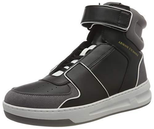 Armani Exchange Męskie buty typu sneakers High Top Bicolor, czarny - czarny szary - 42 EU