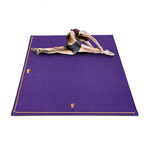 HYD-PARTS Large Exercise Mat for Home Gym Workout...