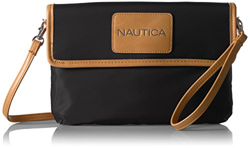 Nautica Perfect Carry-All RFID Blocking Mini Crossbody - portafolios para muñeca, Negro, Talla unica