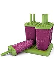 AVANA Herbruikbare ijsvormen 6 stuks ijslolly vormen ijshouder waterijs ijslolly's voor kinderen en volwassenen BPA-vrij - groen