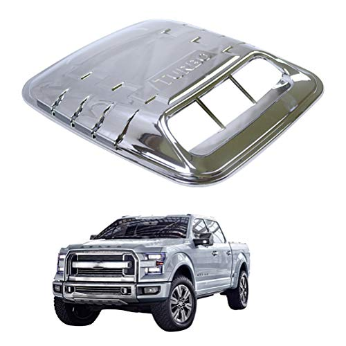 NINTE 3D Chrome Universal Car ABS Vents Decorative Air Flow Intake Hood Scoops Ventilation Cover