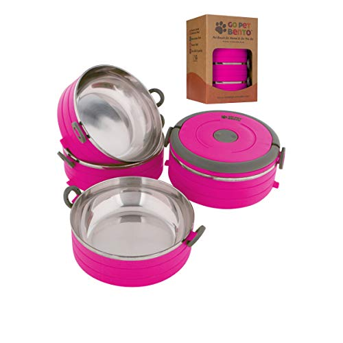Healthy Human Portable Dog & Pet Travel Bowls with Lid - Human Grade Stainless Steel - Ideal for...