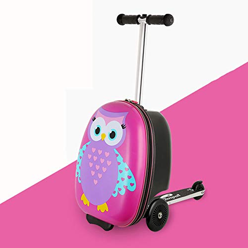 Scooter koffer, Glider to-Go Kids Ride On Cabin Reisbagage, Rolling Carry On Trolley Case voor 4-8 jaar oud - 18
