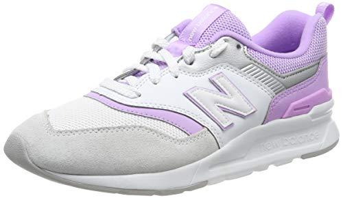 New Balance 997H, Sneaker Donna, Bianco (White/Dark Violet EA), 41 EU