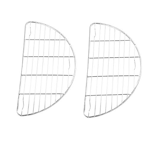 Small Half Round Cooling Rack 2 Pack  79 x 41 inches  Stainless Steel