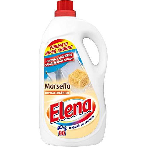 Elena Marsella Detergente para lavadora, hipoalergénico, adecuado para ropa blanca y de color, formato gel - 90 dosis
