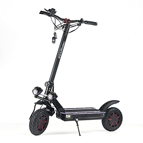 SXRKRZLB Bicicletas Scooter Plegable de Scooter Scooter eléctrico de Dos Ruedas de 10 Pulgadas, batería de Litio de Pantalla Inteligente de Color de Doble Unidad con Puerto de Carga USB