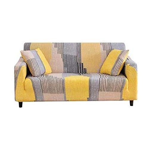 Cxssxling - Funda de sofá de poliéster con Revestimiento elástico para sofá de 4 plazas de 235 a 300 cm, 1Places (40-90cm)
