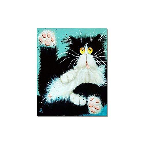 Pintar por Numeros para DIY -40 cm * 50 cm sin Marco Kits Pintura para Colorear Peces Flor por números Animal Lienzo Aceite Inicio Arte de la Pared Decoración Imagen Regalos Xi1164