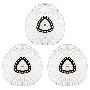 3 Pack Spin Mop Replacement Heads Mop Head Refills Microfiber Mop Refills Easy Cleaning Mop Head Replacement