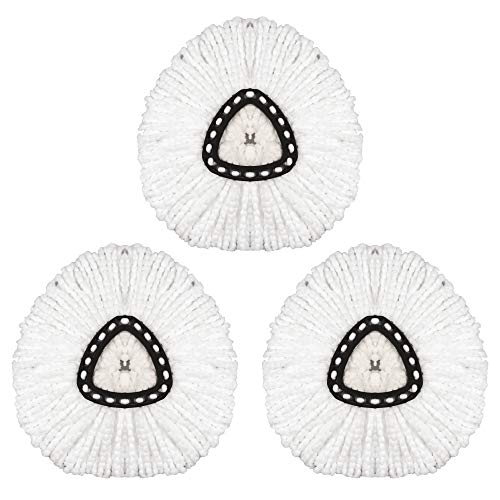 3 Pack Spin Mop Replacement Head Mop Head Refills Mop Head Replacement Mops for Floor Cleaning Microfiber Mop Head Replacement