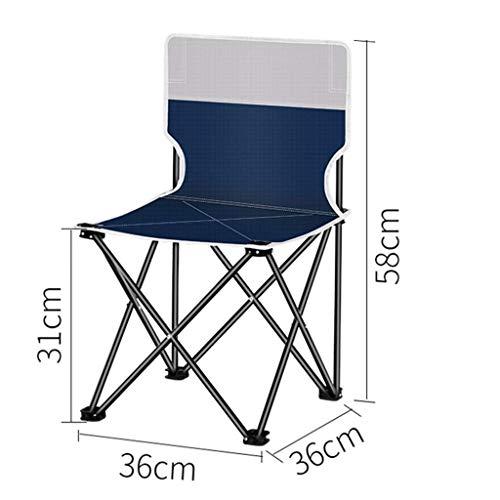 LYZZDY Yxsd Klapstoel, hocker draagbare klapstoel aluminiumlegering Oxford Outdoor kleine klapstoel voor kamperen vissen wandelen