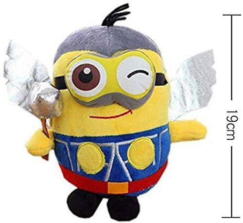 N/Z Despicable Me Toys für Kinder Anime Gefüllte Plüschpuppe Lila Minions Plüschtiere Weich Gefülltes Kissen Für Kinder 19Cm