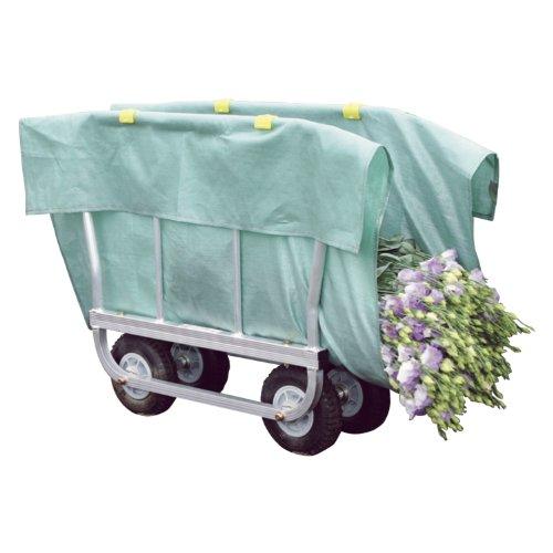 ハラックス はなこ アルミ製 側枠開閉式花の収穫台車 AH-410 [エアータイヤ]