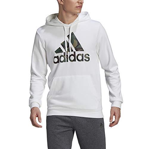 adidas,Mens,Camo Hoodie,White,X-Large