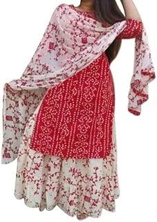 Aranatha Enterprises Cotton Kurta with Mulmal Dupatta Set for Women's Women's Palazzo Kurta Set
